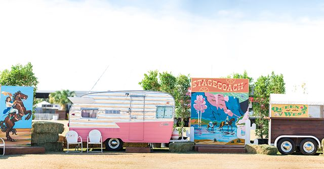 We have been having a blast seeing everyone's photos at our Queen of the West installation @stagecoach next to the Palomino Stage!!! You guys are all the best!!! Shout out to our amazingly talented friends @luckybdesign @poodlesaralane @kjyates for the gorgeous 🎨 & signs to!!! 📸 @kristinraynorphoto #stagecoach #vintagetrailer #stagecoach2018
