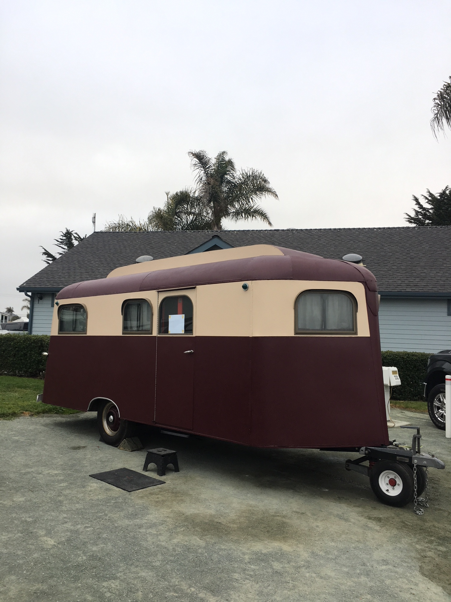 A 1937 Cozy Coach vintage trailer