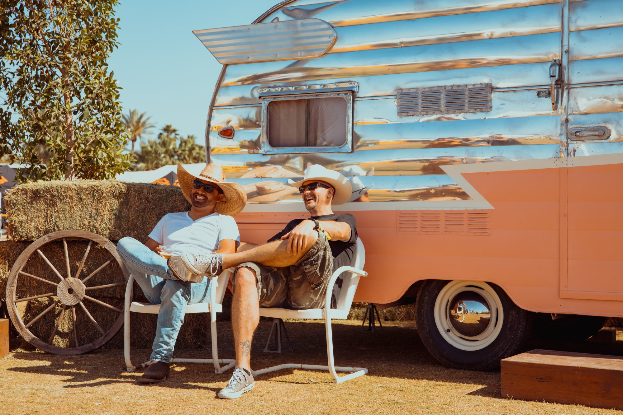 Stagecoach Country Music Festival art installation with vintage trailer rental