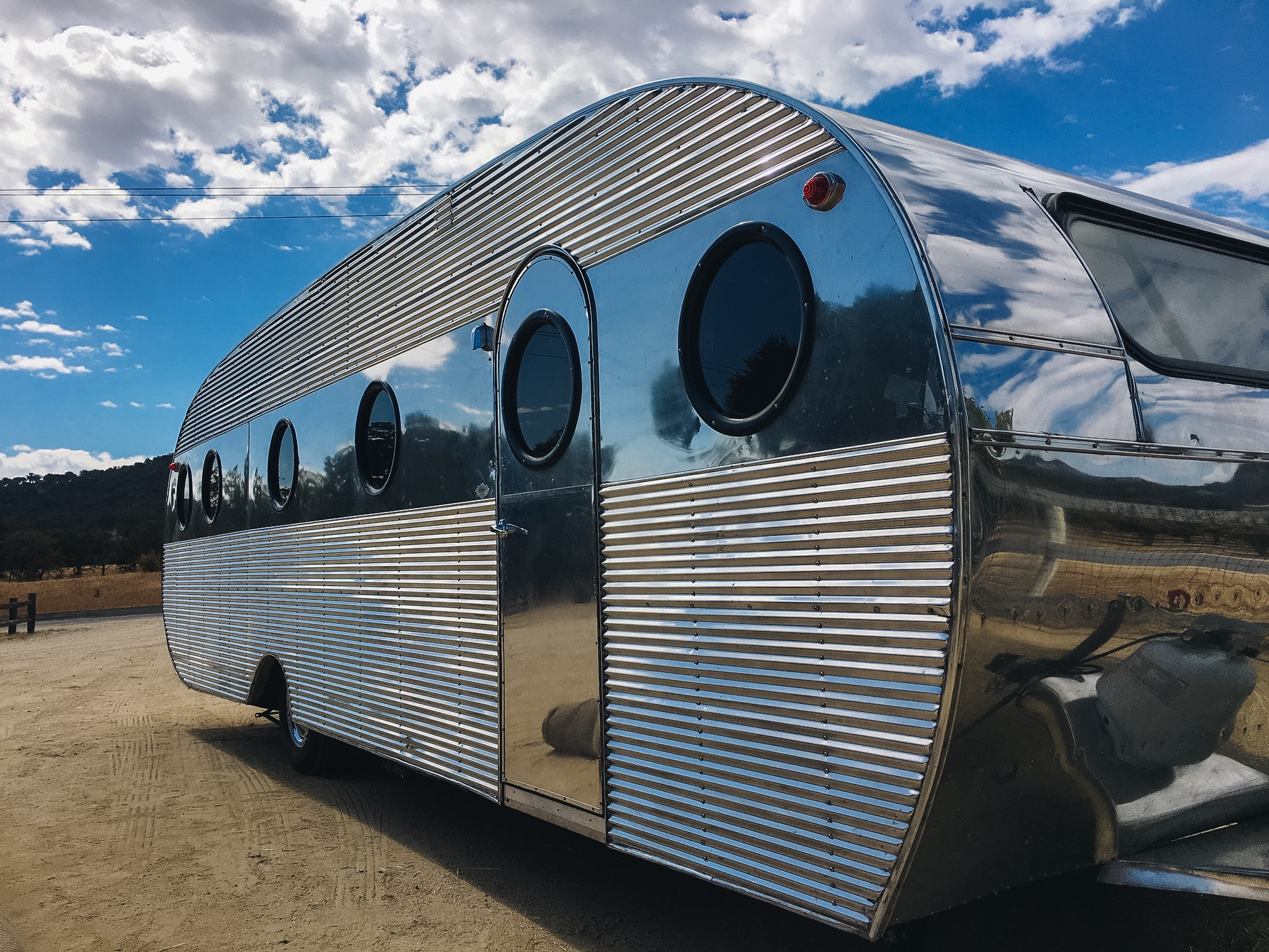 1948 Airfloat James Dean vintage Trailer with portholes