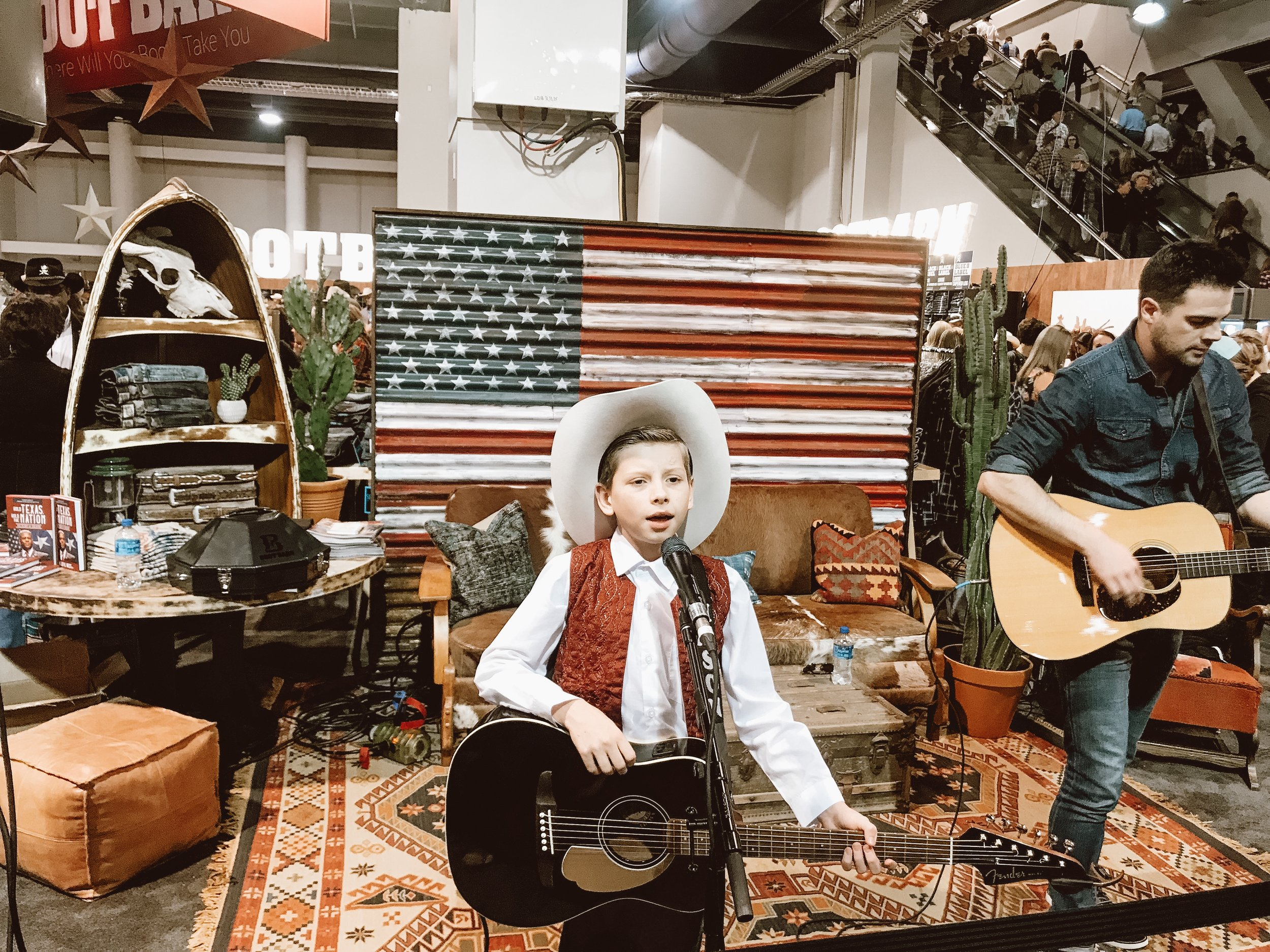 Southwestern Styled Lounge for NFR Tradeshow + Mason Ramsey Concert