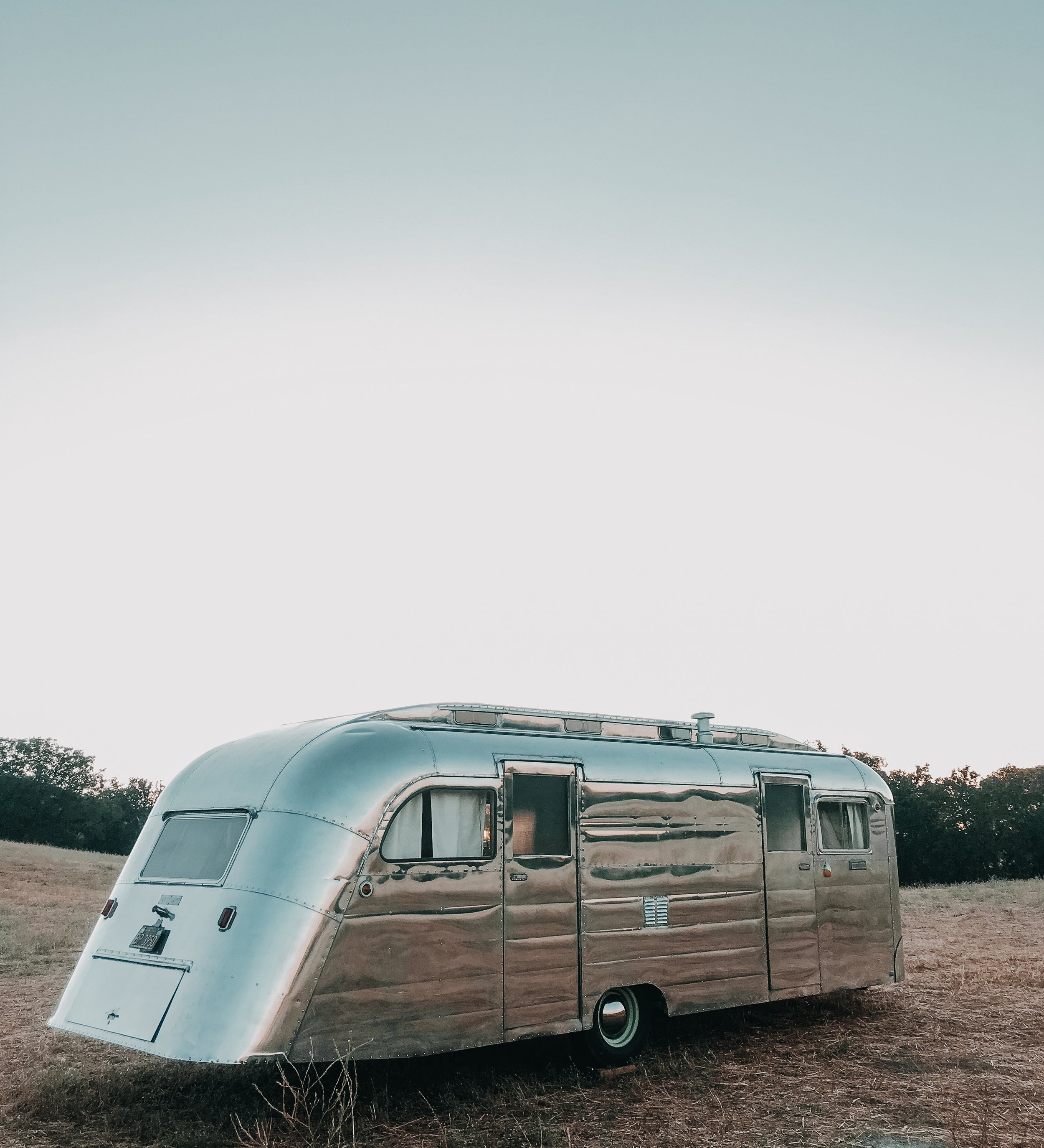 1950 Westcraft Silver Long Vintage Trailer For movie, studio and production rentals