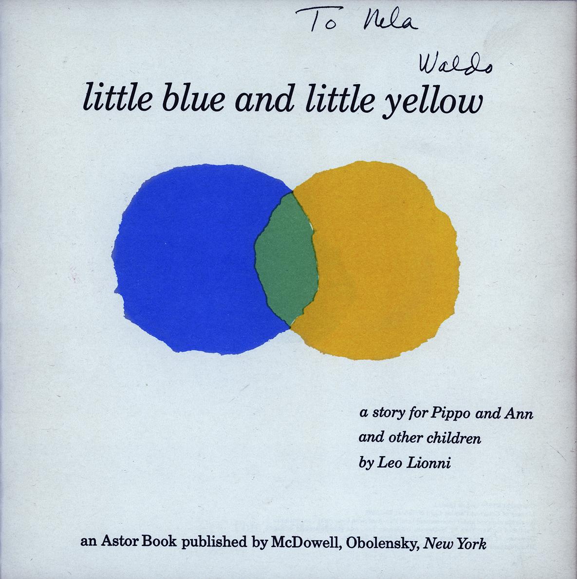 Waldo Balart gives Leo Lionni's first children's book to Nela Arias Misson