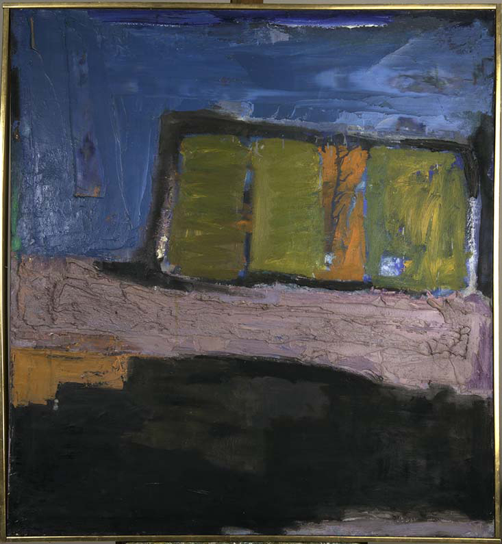 PAYSAGE SPIRITUEL 1964  oil on canvas 40x44 inches