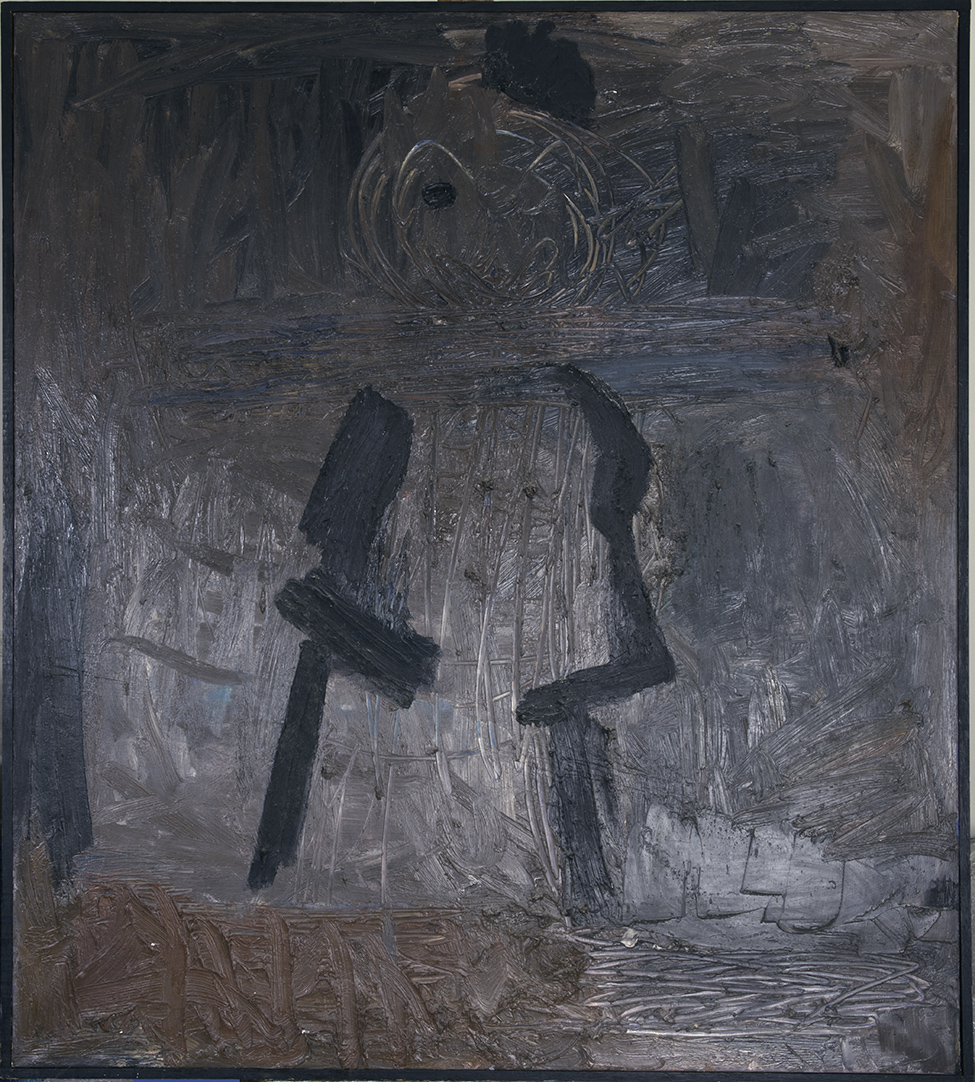 HOMBRE ESPANOL 1965  oil on canvas 45x51 inches