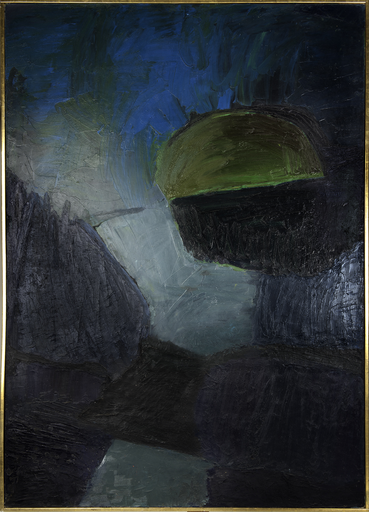 DISTANT 1961  oil on canvas 44x63 inches
