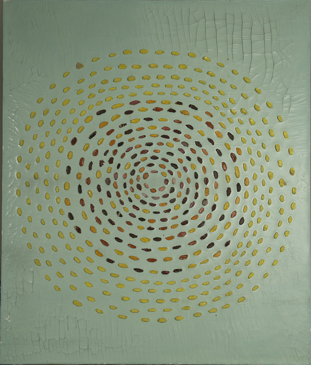 THE WHIRLIGIG OF iCHING II 1971  oil on canvas 40x50 inches