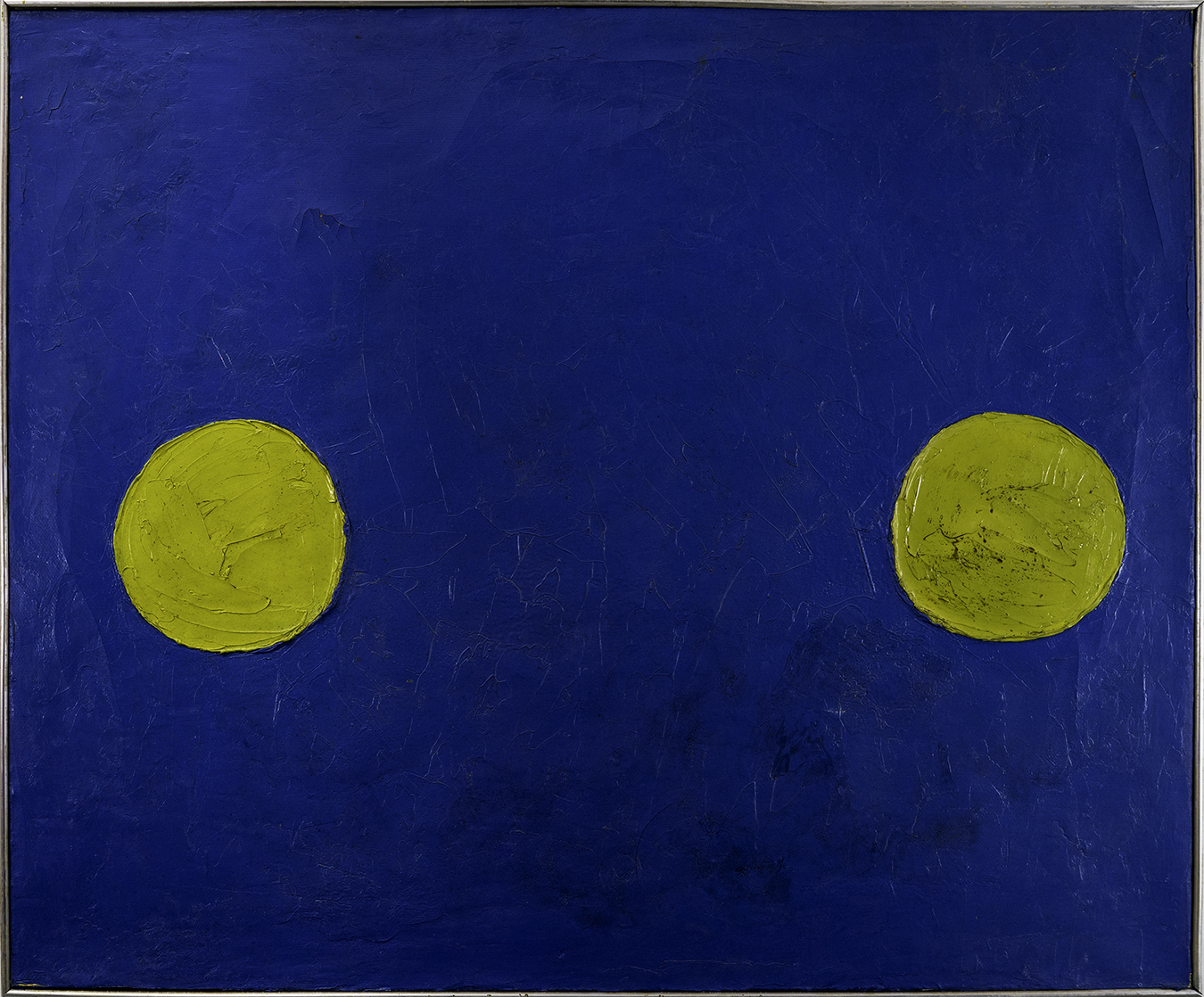 DOS LUNAS 1967  oil on canvas 24x29 inches