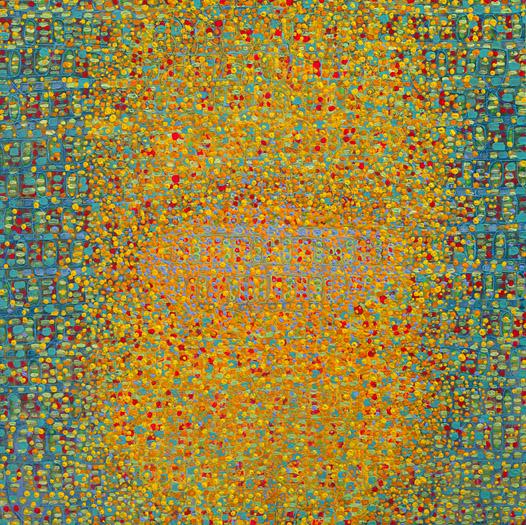 "Numerous    acrylic on panel  12 x 12"" 2008"