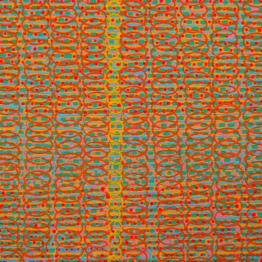 """Seeker    acrylic on panel  12 x 12"""" 2008"""