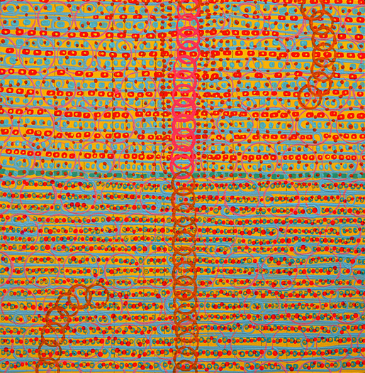 "Scope    acrylic on panel  12 x 12"" 2008"