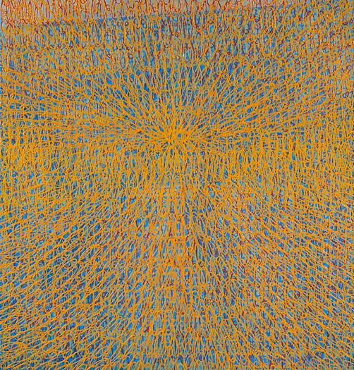 """Mandala-la   oil on panel 40 x 38"""" 2007"""