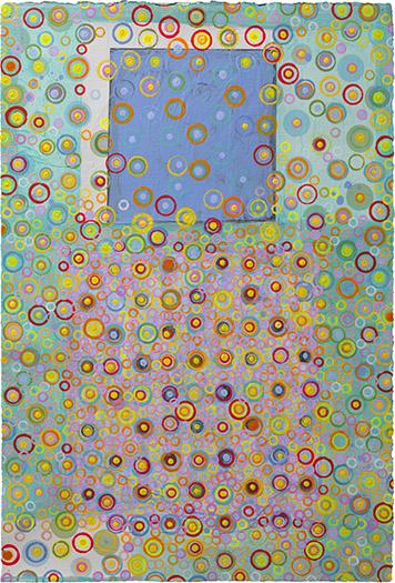 "Dizzy   mixed media on paper 22 x 15"" 2009"