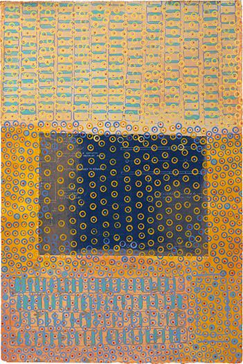"Montserrat   mixed media on paper 22.5 x 15"" 2009"