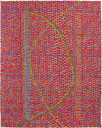 "Criss Cross    acrylic on paper 14 x 11"" 2008"