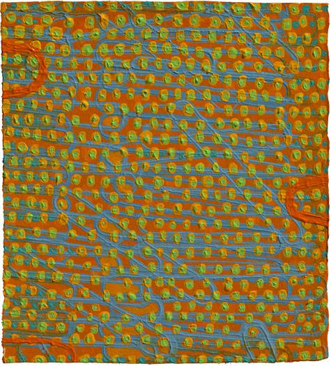 "Odd Duck    acrylic on paper 6 x 5.25"" 2008"