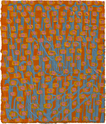 "Quack, Quack    acrylic on paper 5.75 x 4.75"" 2008"