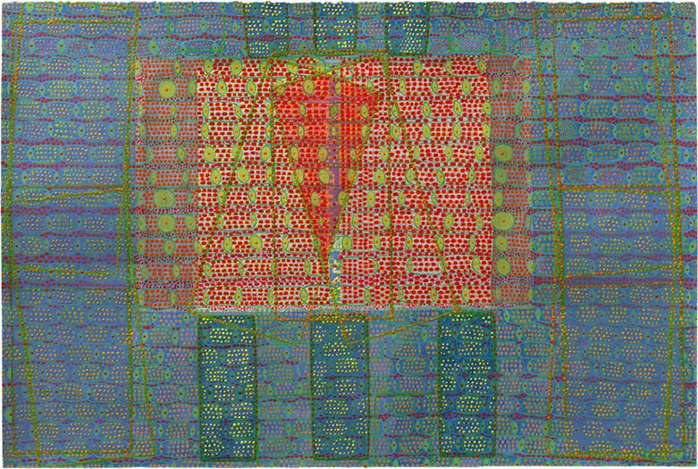 """Captive   mixed media on paper 20 x 30"""" 2010"""