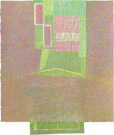 """Zip Code    mixed media on paper 22 x 18"""" 2010"""