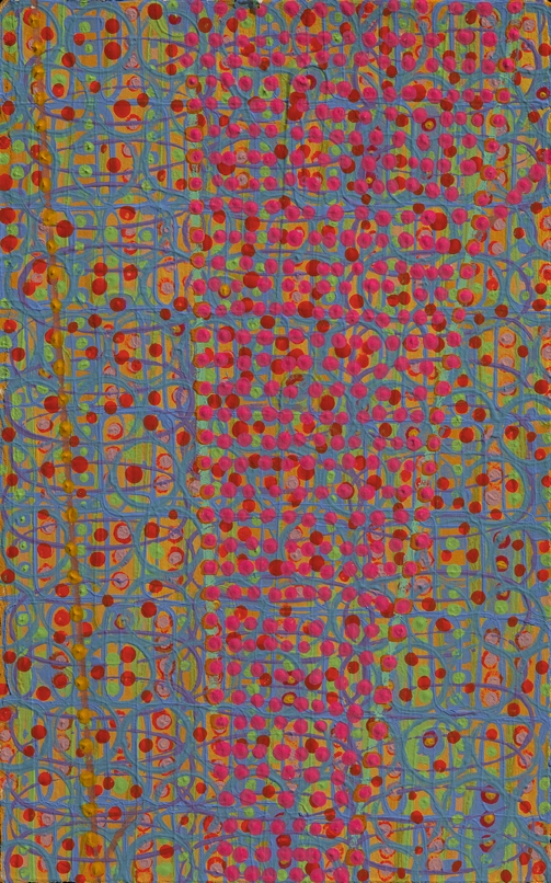 "Doubtful Virtue    acrylic on paper 8 x 5"" 2008"