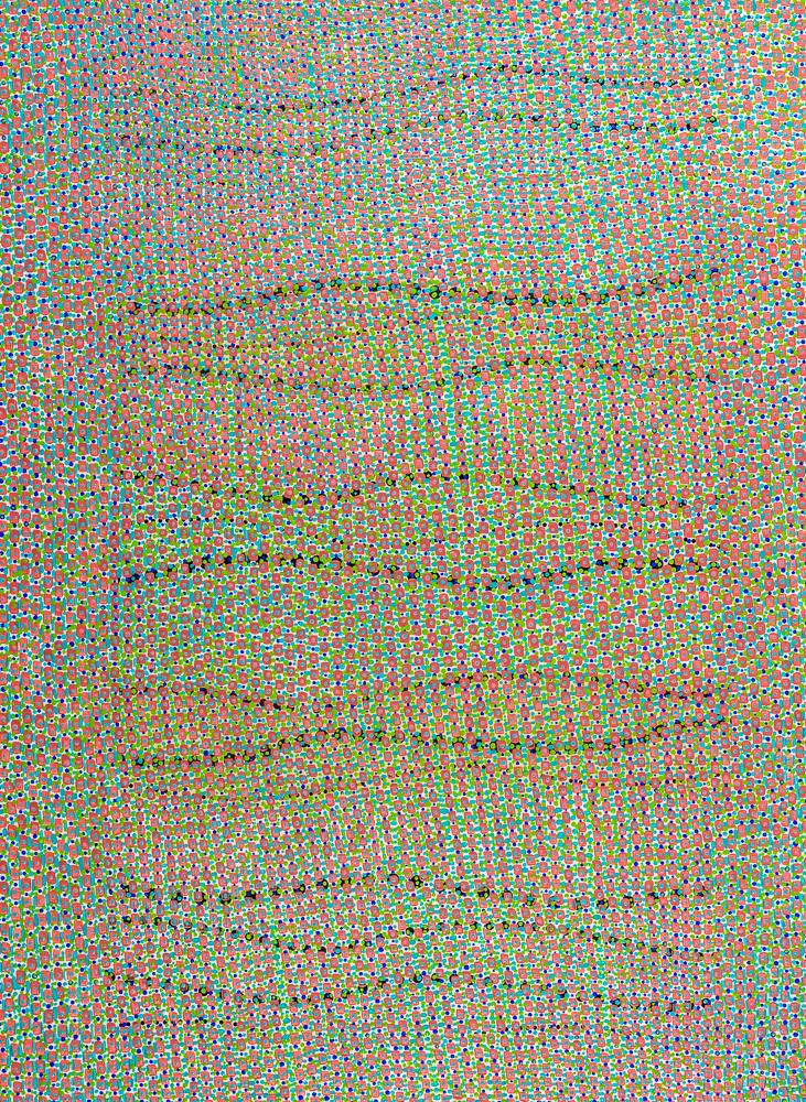 """Opulent Reset   mixed media on paper 30 x 22"""" 2017"""