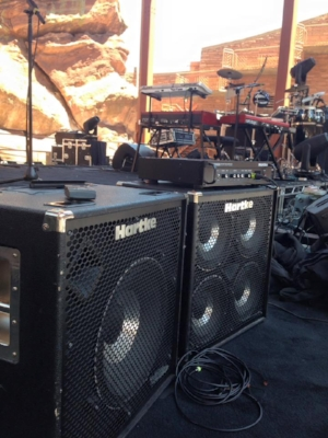 My Hartke rig at Red Rocks Aphitheatre
