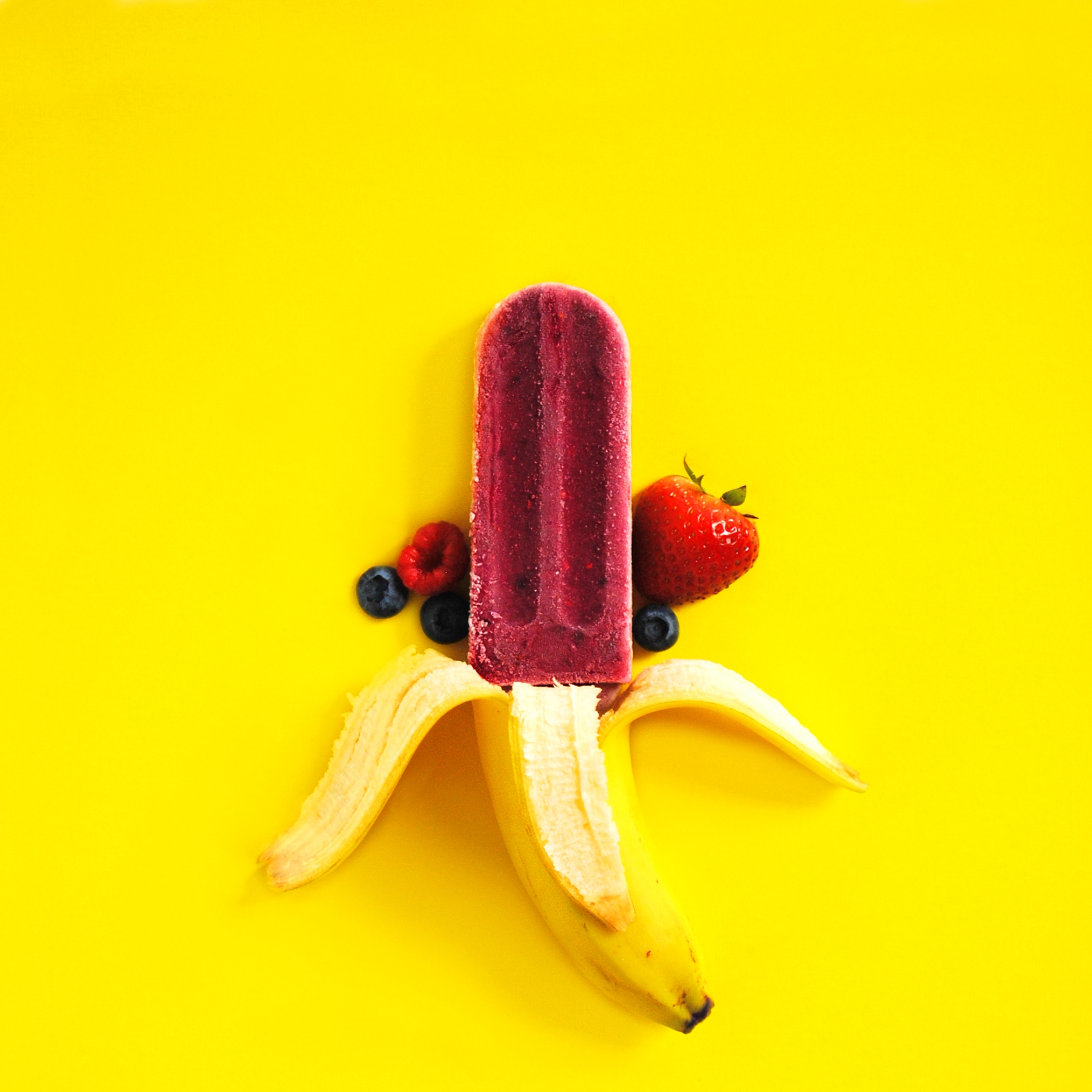 Popfancy Banana Berry Popsicle