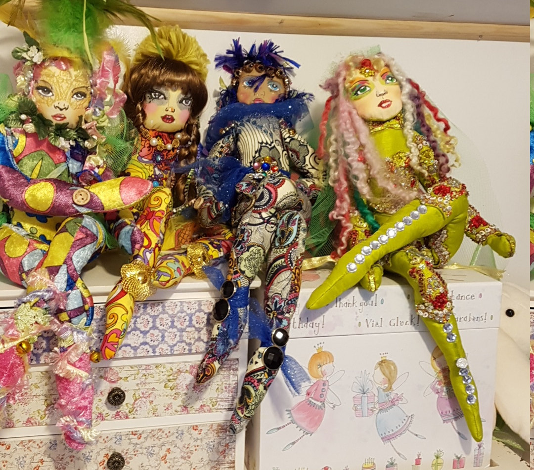 Dolls by Donna (using  Creative cloth faces  collection)