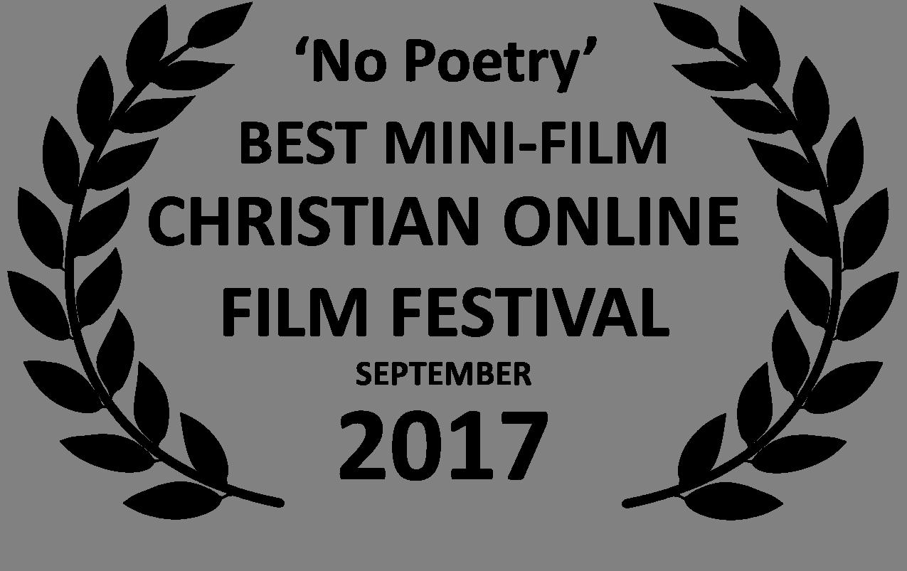 No Poetry Best Mini-Film Award Black Laurels COLFF Sep 17.png