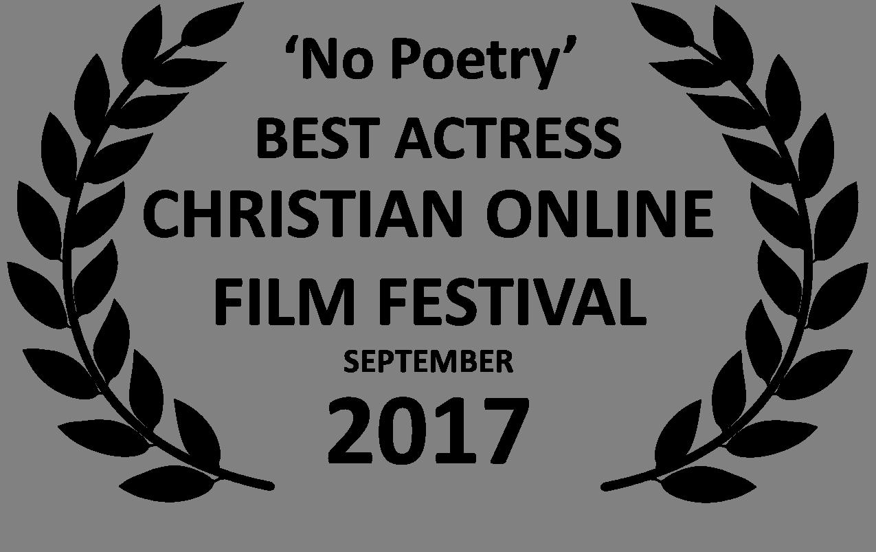 No Poetry Best Actress Award Black Laurels COLFF Sep 17.png