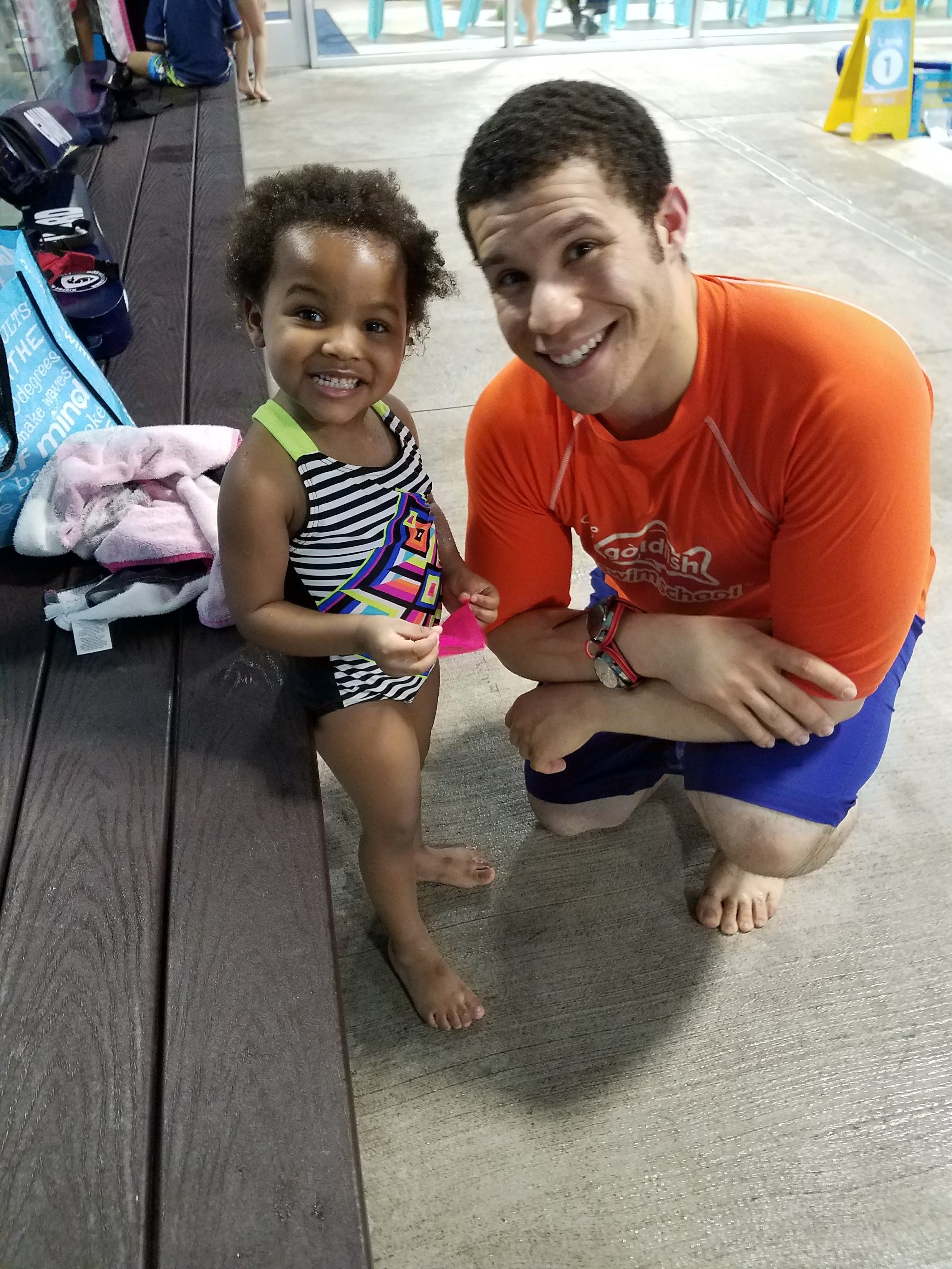 The authors daughter Summer *& awesome swim instructor.