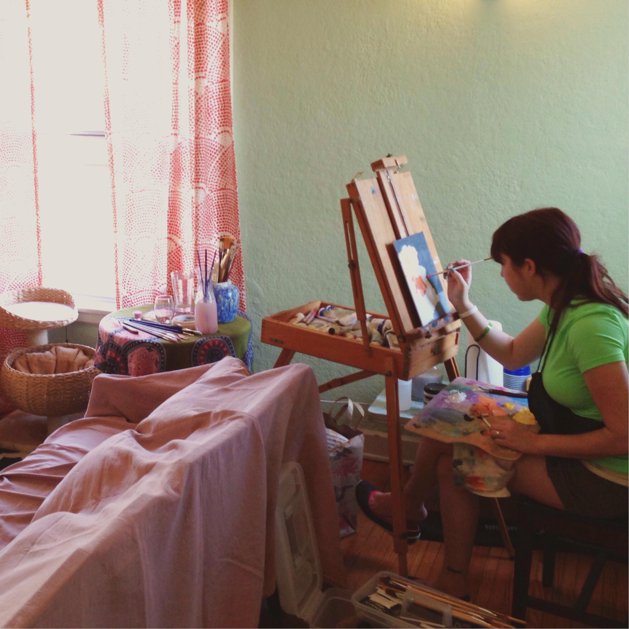 Heather painting, 2014.