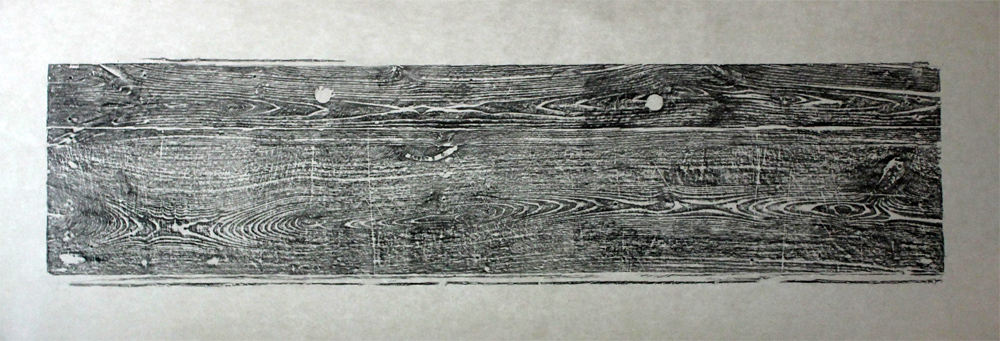 Against the Grain   Graphite rubbing on mulberry paper  2015
