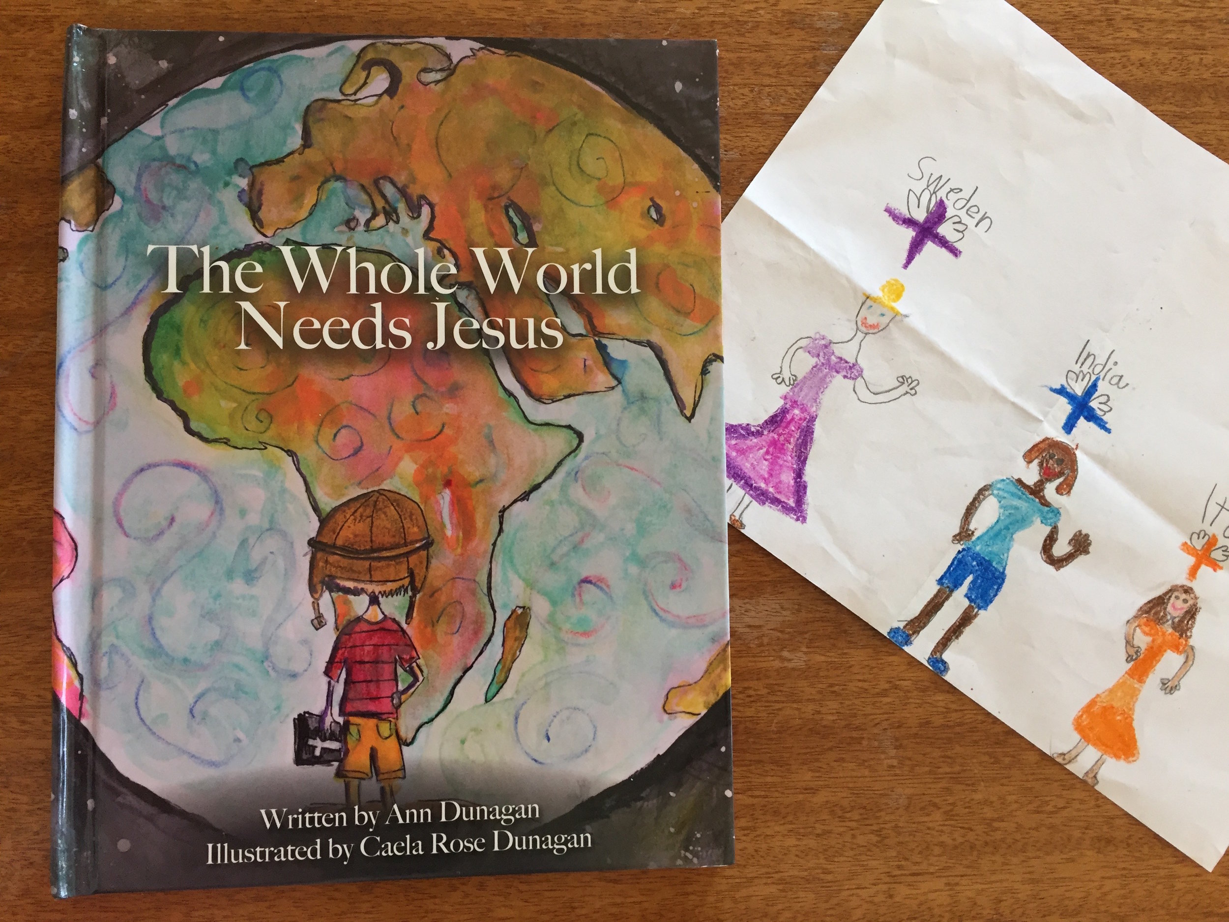 "Click here  for more about ""The Whole World Needs Jesus"" book! We LOVE it!"