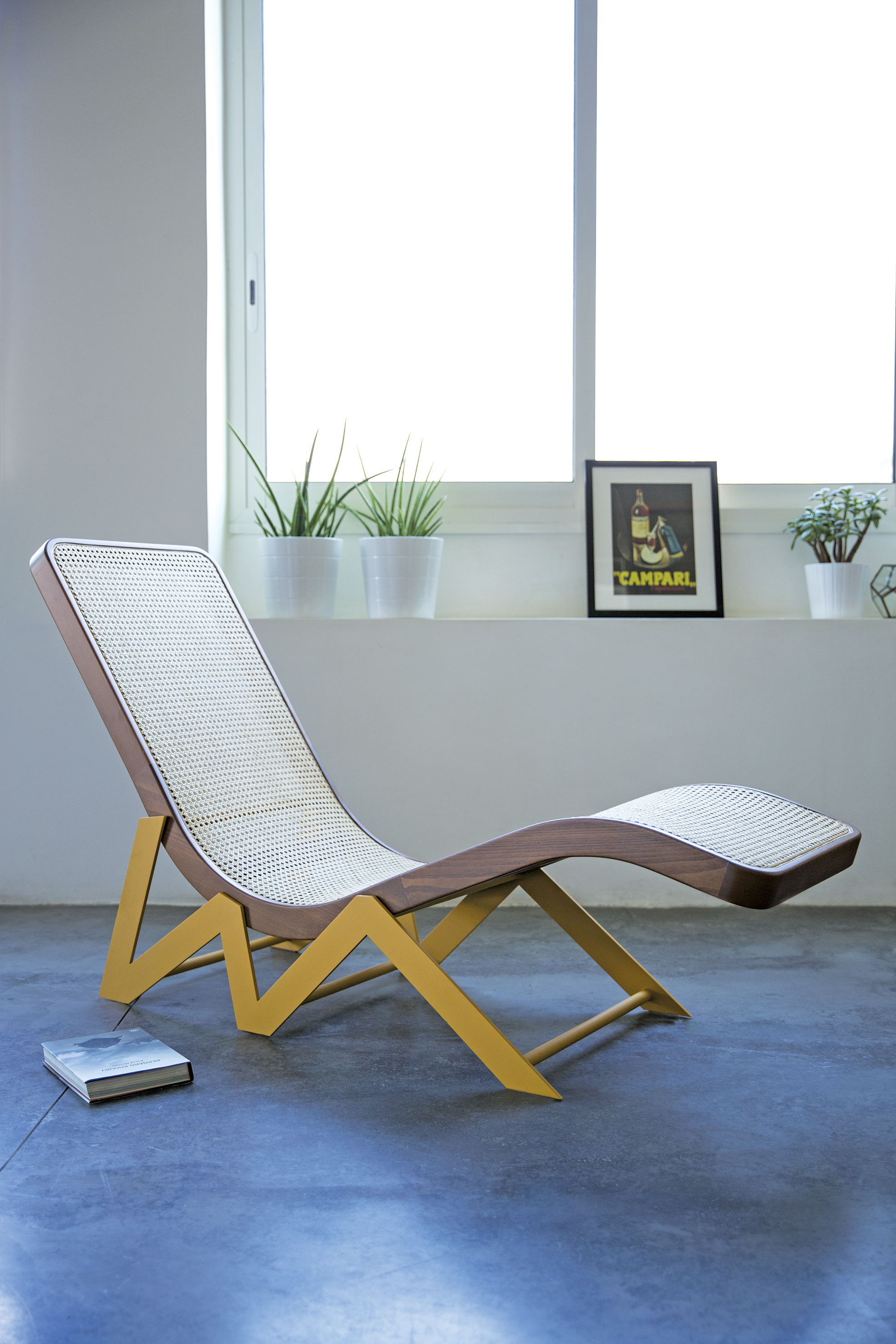 "RAWKE CHAIR BY KANN USING CANE WORK ""CANAGE"""