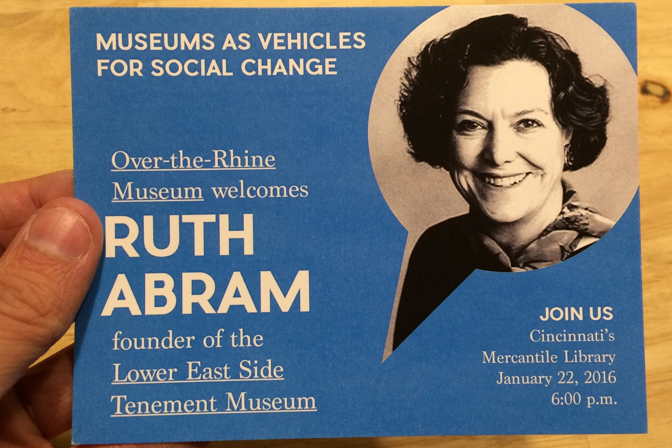 """Ruth J Abram Discusses Community Museums and Her Work in Historic Preservation"" - WVXU 