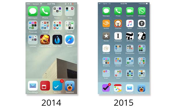 iOS Homescreen