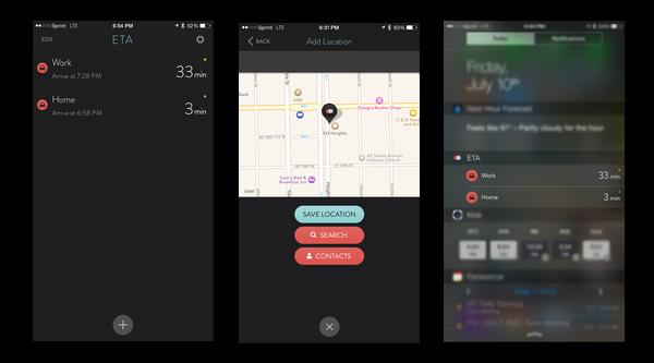 ETA App Screenshots