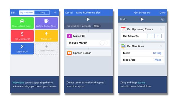 Workflow App Screenshots