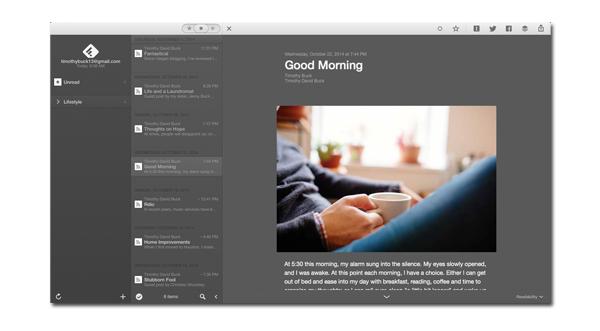 Reeder Mac Screenshot