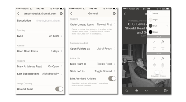 Reeder iOS Screenshot