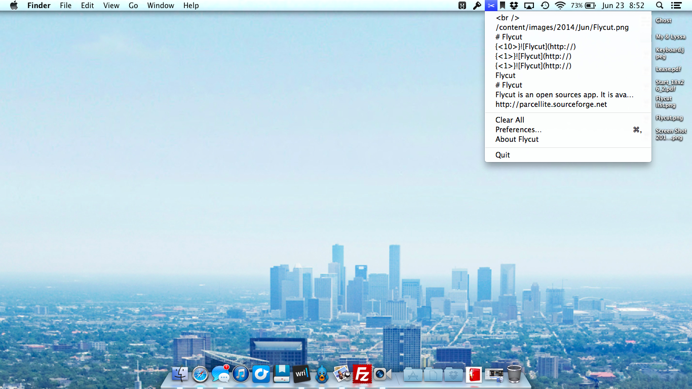 Flycut Mac Screenshot