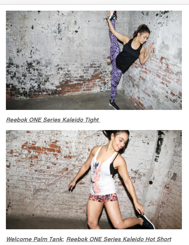 Hustling for Reebok in their catalogue.