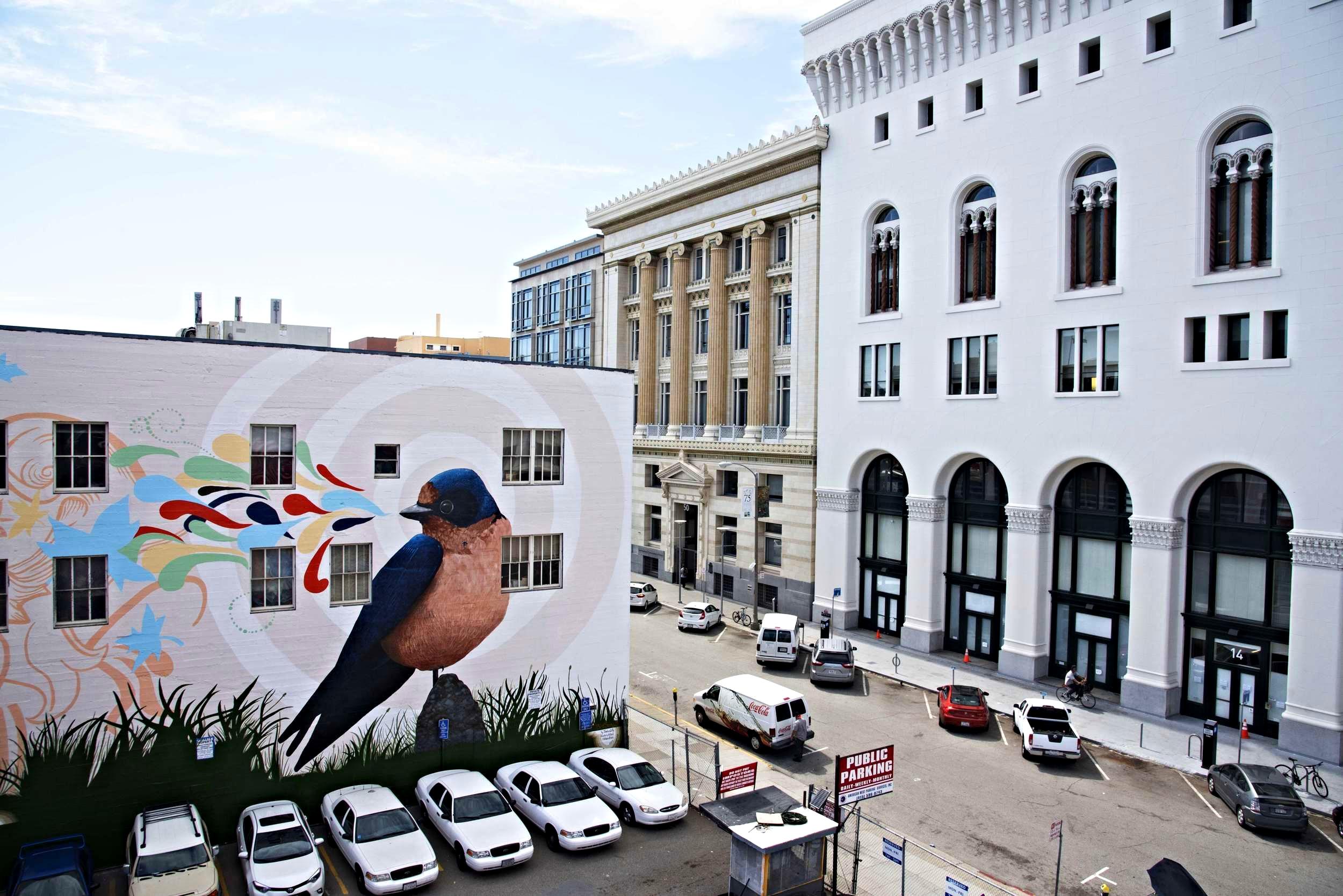 Bird Mural @ One Oak, San Francisco