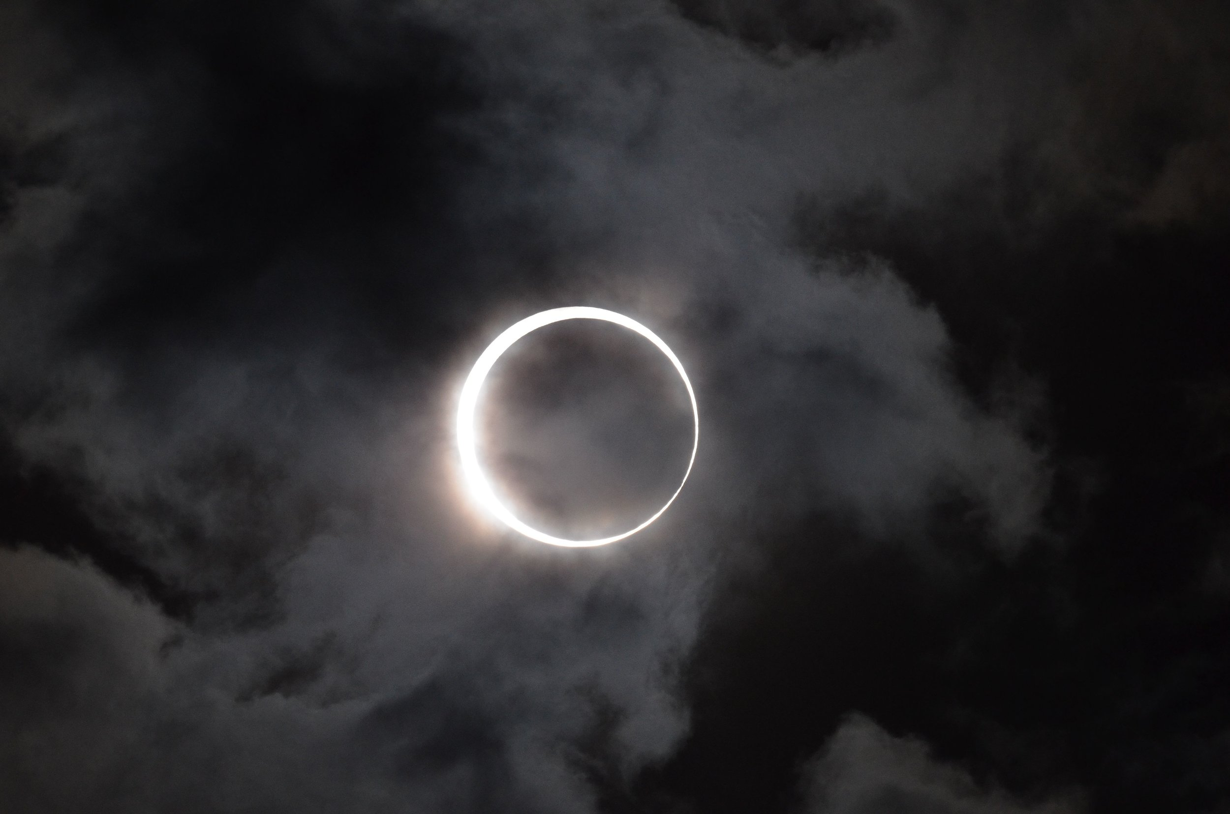 Annular solar eclipse; photo by Takeshi Kuboki via Wikimedia Commons