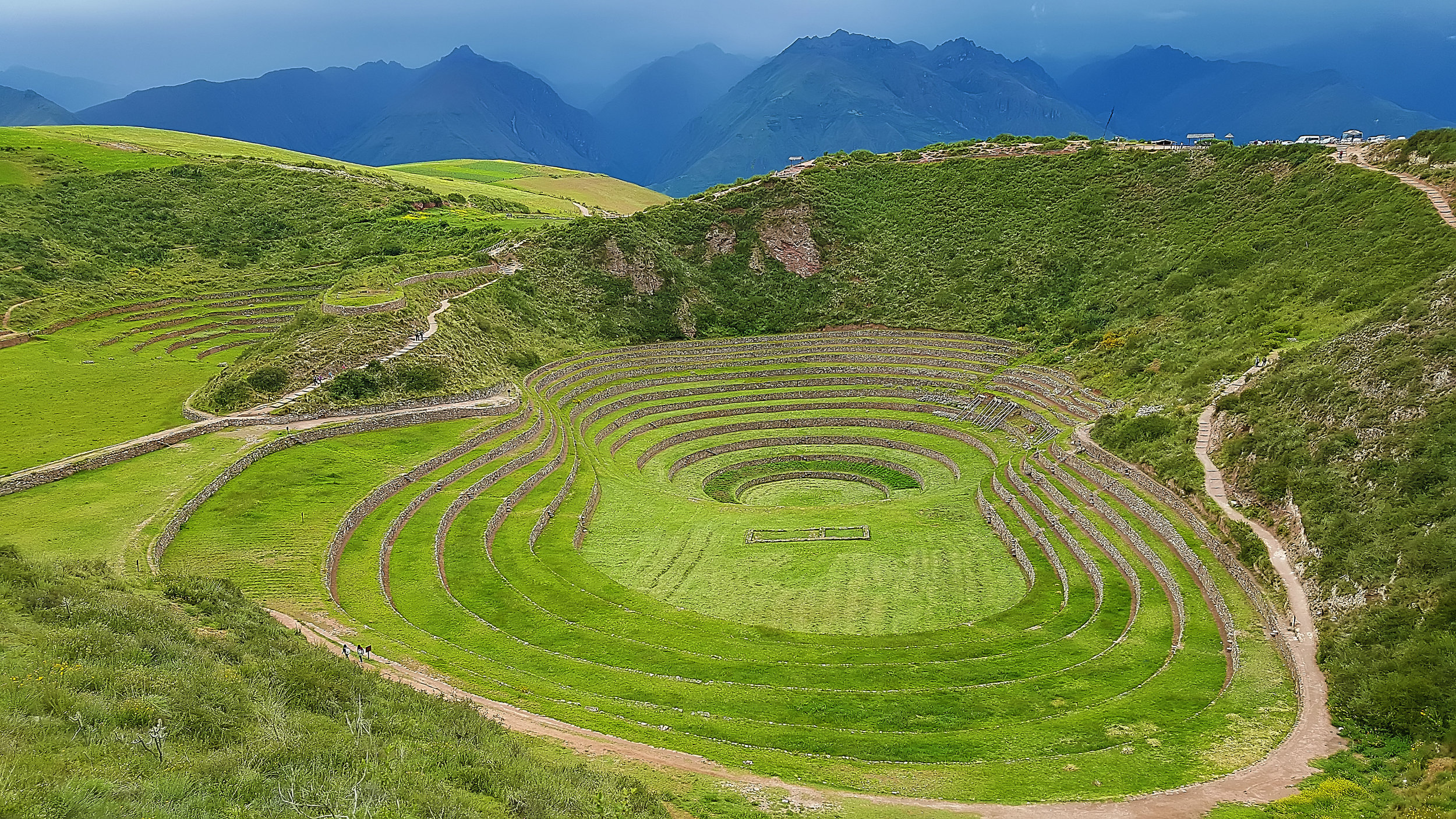 Moray (Incan ruin) in Peru; photo by Jenine Schirtzer, March 2016.