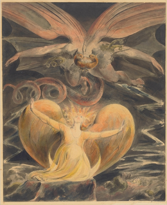 The Great Red Dragon and the Woman Clothed with the Sun by William Blake.