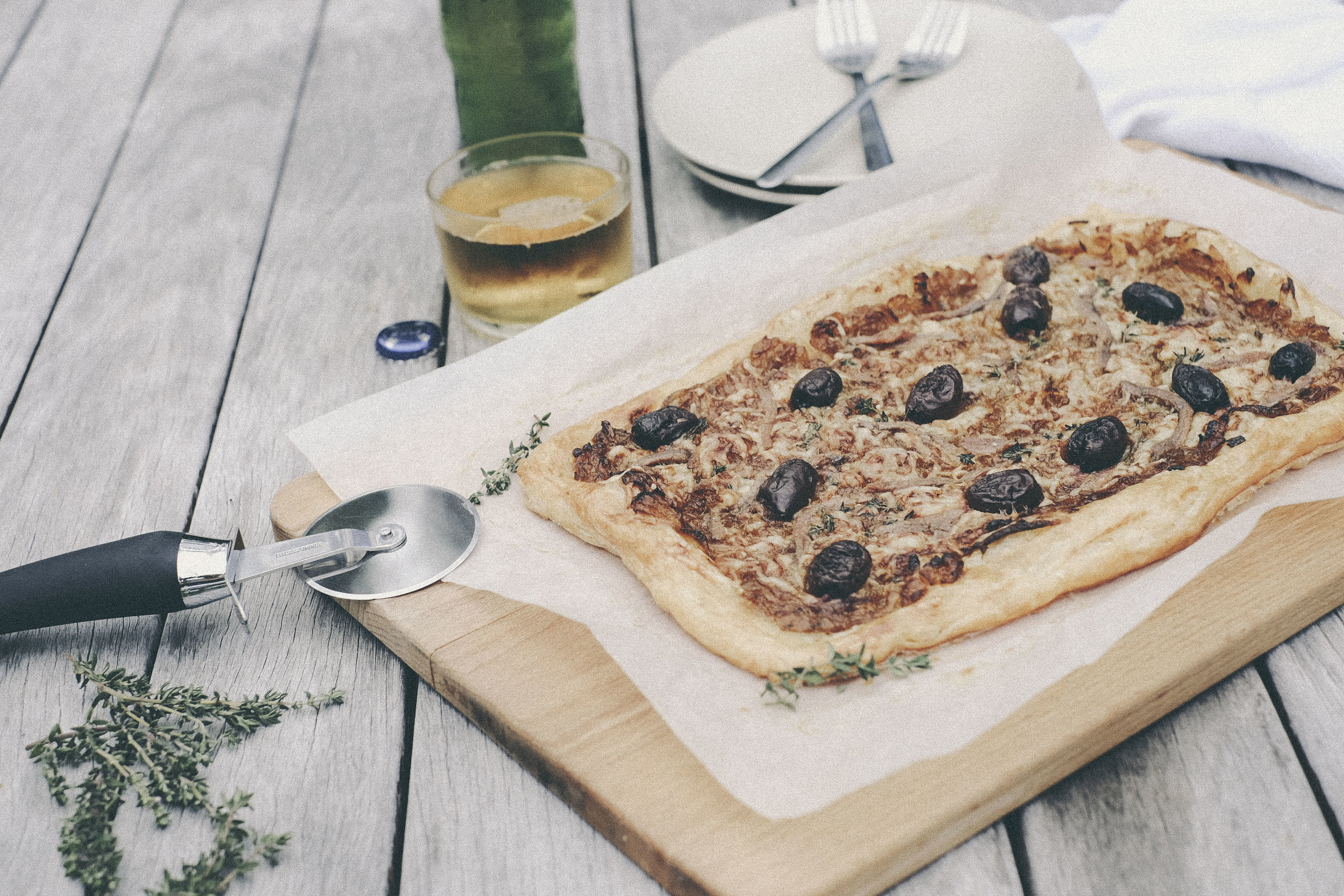 easy pissaladière with parmesan cheese
