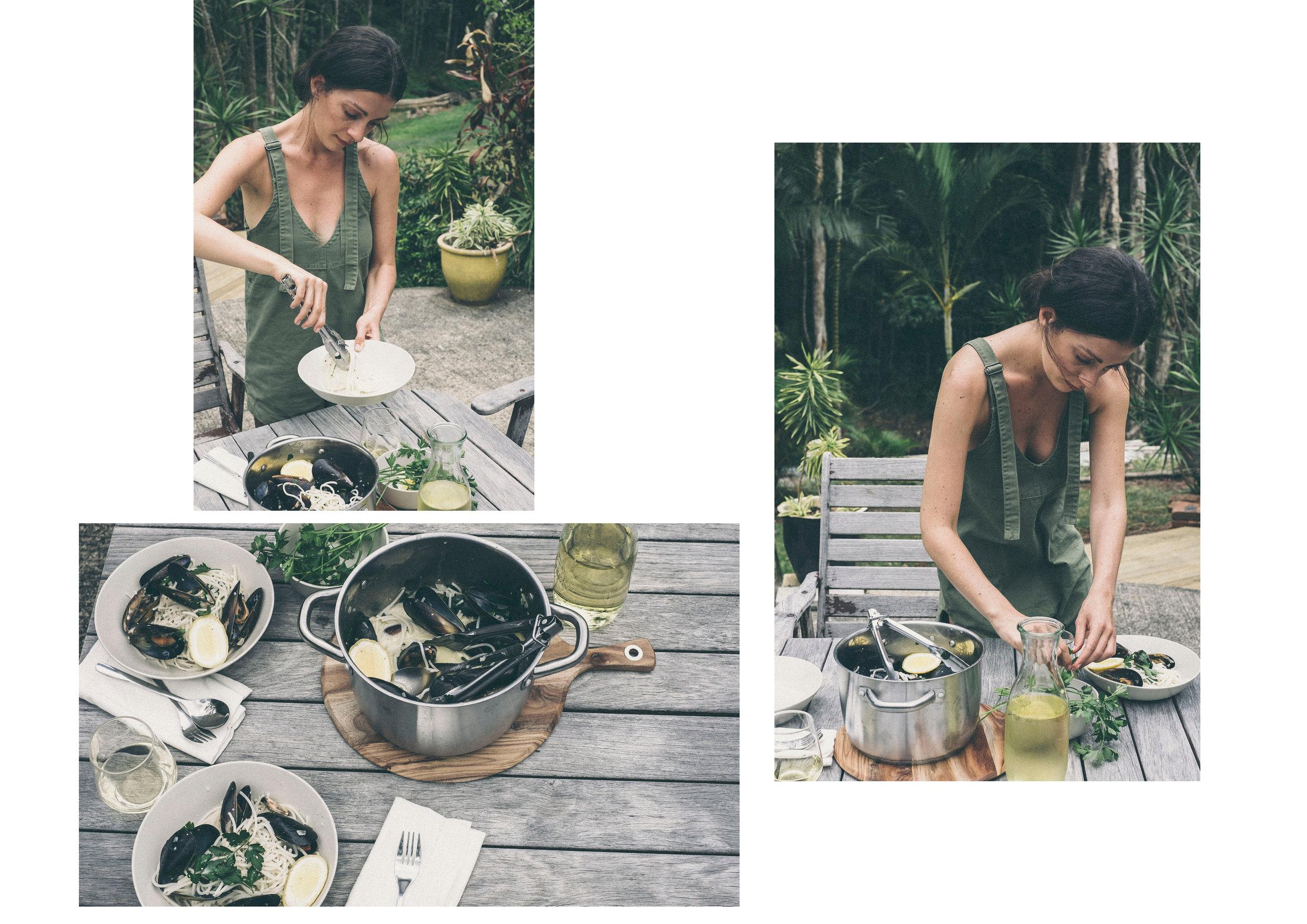 dérrive recipe - creamy moules marinière with quinoa spaghetti www.derrive.com