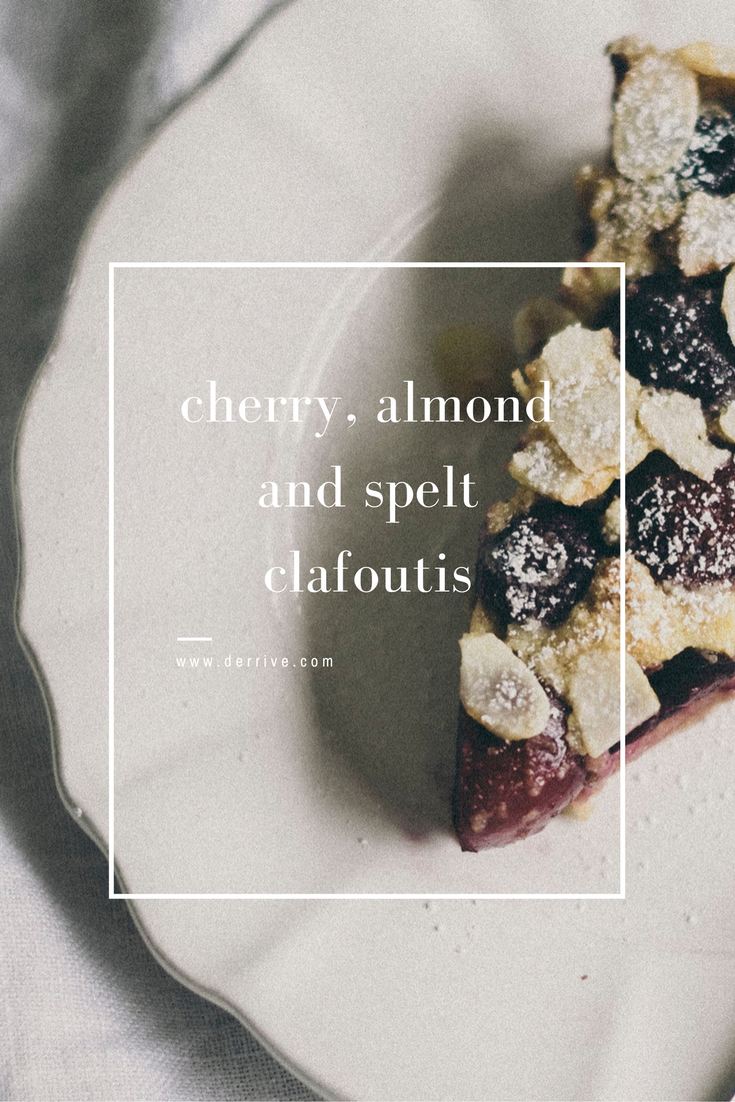 dèrrive recipe - cherry, almond and spelt clafoutis www.derrive.com